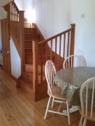 The dining table and the stairs